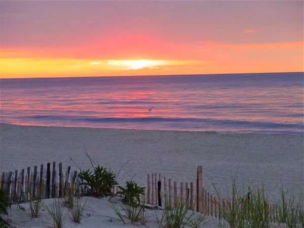 this is the NJ shore at sunrise