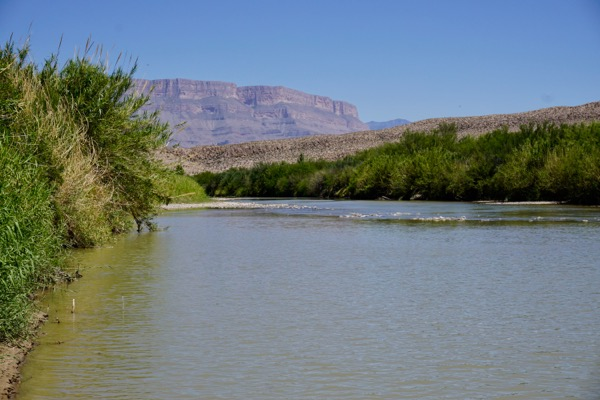Rio Grande river at Big Bend National Park, looking southeast. Mexico is on the right (5/1/17)