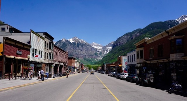 Main Street, Telluride Colorado (looking east)