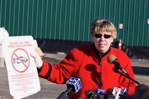 former EPA Region 2 Administrator Judith Enck at NJ Superfund site (Cornel-Dublier)