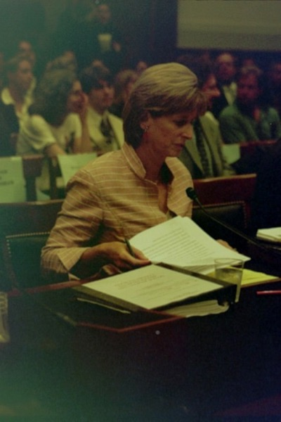 Christie Whitman testifies before the House Judiciary Committee to defend her post 9/11 EPA actions and remarks. I took this photo - apologize for poor quality!