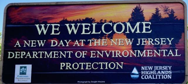 Billboard outside DEP HQ on State Street