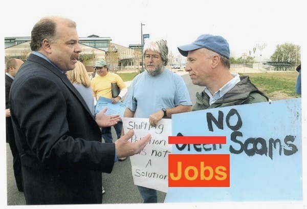 Yours truly debates NJ Senate President Sweeney (Earth Day 2005)