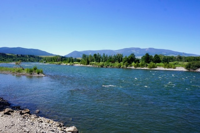 Yellowstone river, at Livingston Montana
