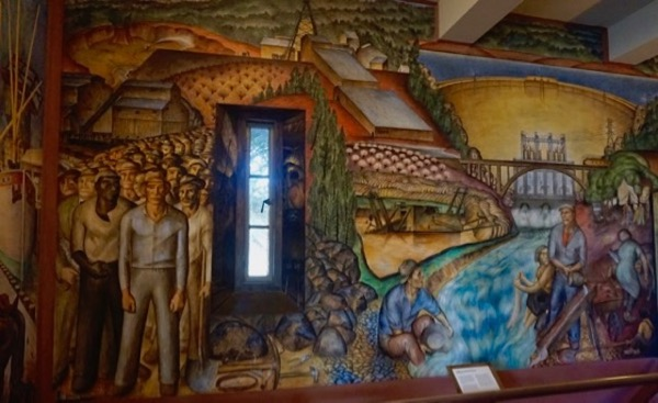 mural in Coit Tower, San Francisco