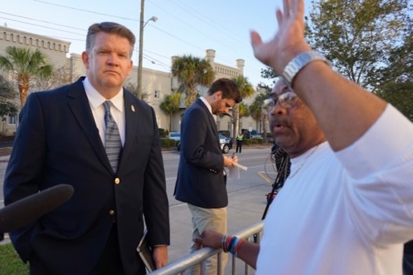 Local black minister bows to pressure from Citadel PR hack - agrees to move his protest far away from Bannon speech (11/10/17)