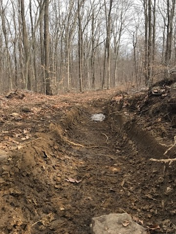Large ruts in DEP Sparta Mountain forest logging roads (Source: Friends of Sparta Mt. - Stop The Chop - NJ Forest Watch)
