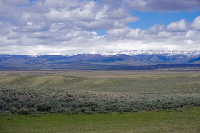 BLM lands outside Pinedale, Wyoming. I think that is Teton range in background
