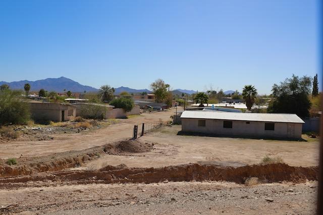 Sonoyta Mexico, shot through the border wall