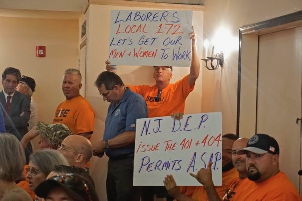 The union guys knew exactly what to demand (401 WQC) and who to target (DEP). The Hunterdon County folks, driven by Rethink & Tom Gilbert? Not so much.